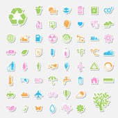 Ecology and Recycle icons — Vettoriale Stock