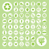 Ecology and recycle icons, backgrounds — Stock Vector