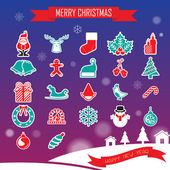 Christmas Icons Collection set — Stok Vektör
