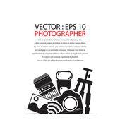 Camera gadget set ,Illustration — Stock Vector