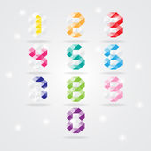 Numbers set. Vector illustration — Stock Vector