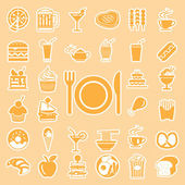 Vector menu food and drink icons set — Vetorial Stock