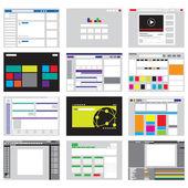 网站模板图标和背景 — 图库矢量图片