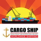 Worldwide shipping,cargo,Logistics — Stock Vector