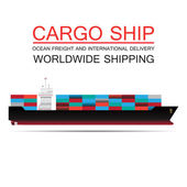 Weltweiter versand, fracht, logistik — Stockvektor
