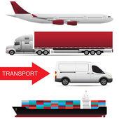 World wide cargo transport vector concept — Stock Vector