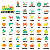 Farm icons Set — Stock Vector