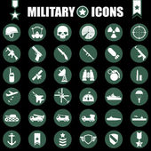 Military icons set — Stock Vector