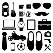 Man style infographics elements and icons set for Modern — Cтоковый вектор