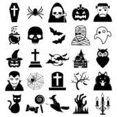 Halloween icons — Stock Vector