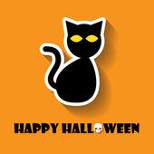 Cat halloween icon — Stock Vector