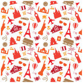 Travel background, pattern — Stock Vector