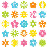 Flower icon set — Stock Vector