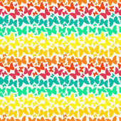 Seamless pattern with bright rainbow silhouette butterflies — Stock Vector