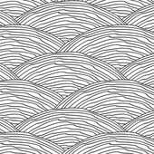 Seamless pattern with abstract doodle hand drawn wavy scale texture — Stock Vector