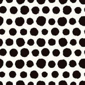 Seamless pattern with painted polka dot texture — Stock Vector
