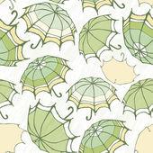 Padrão sem emenda com guarda-chuvas decorativas — Vetor de Stock