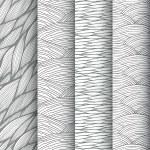 Decorative waves seamless patterns set — Stock Vector #50240227