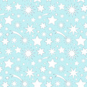 Seamless pattern with decorative stars — Stock Vector