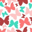 Seamless pattern with colorful butterflies. Vintage style — Stock Photo #50379439
