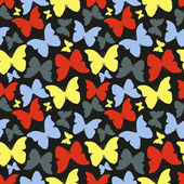 Seamless pattern with colorful butterflies. Vintage style — Stock Photo