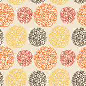 Seamless pattern with decorative curls. Doodle ornament. Endless — Stock Photo