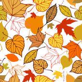 Padrão sem emenda com estilizado Outono folhas — Vetor de Stock