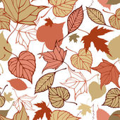 Seamless pattern with stylized autumn leaves — Vettoriale Stock