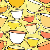 Seamless pattern with bright colorful cups — 图库矢量图片