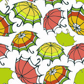 Seamless pattern with stylized colorful umbrellas — Vettoriale Stock