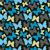 Seamless pattern with decorative colorful butterflies — Stock Vector