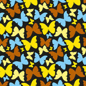 Seamless pattern with decorative colorful butterflies — Stockvector