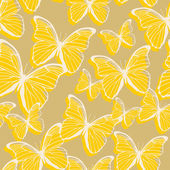 Seamless pattern with decorative colorful butterflies — Stockvektor