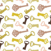 Seamless pattern with vintage keys — Stock Vector