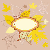 Colored leaves background with frame for text — Stock Vector