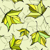 Seamless pattern with stylized decorative leaves — Stockvector