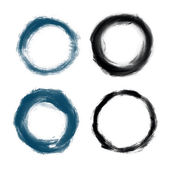 Hand drawn painted grunge circles — Stock Vector