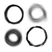 Hand drawn painted grunge circles illustration, vector design el — Stock Vector