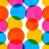 矢量无缝模式与明亮多彩的水彩手绘 — 图库矢量图片