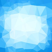 Triangle neutral blue and white abstract background. Template fo — Stock Vector
