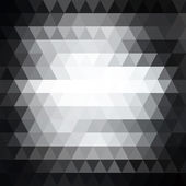 Triangle black and white abstract background. Template for your — Stock Vector