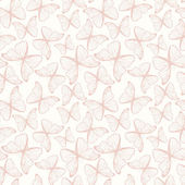 Seamless pattern with hand drawn outline butterflies — Stock vektor