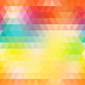 Abstract geometric triangle background. Colorful rainbow seamles — Vector de stock