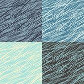 Set of abstract linear grunge seamless patterns — Stockvektor