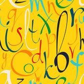 Patrones sin fisuras con mano dibujado letras decorativas — Vector de stock