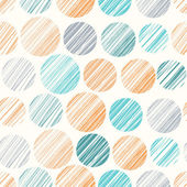 Seamless pattern with hand drawn polka dot ornament — Vector de stock