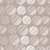 Seamless pattern with hand drawn polka dot ornament. Abstract ba — Stock Vector