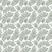 Seamless pattern decorative branches — Stockvektor
