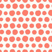 Seamless pattern with painted polka dot texture — Stockvektor
