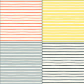 Seamless patterns set with painted stripes — Stock Vector